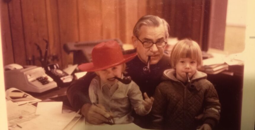 M.L. with his grandfather and brother